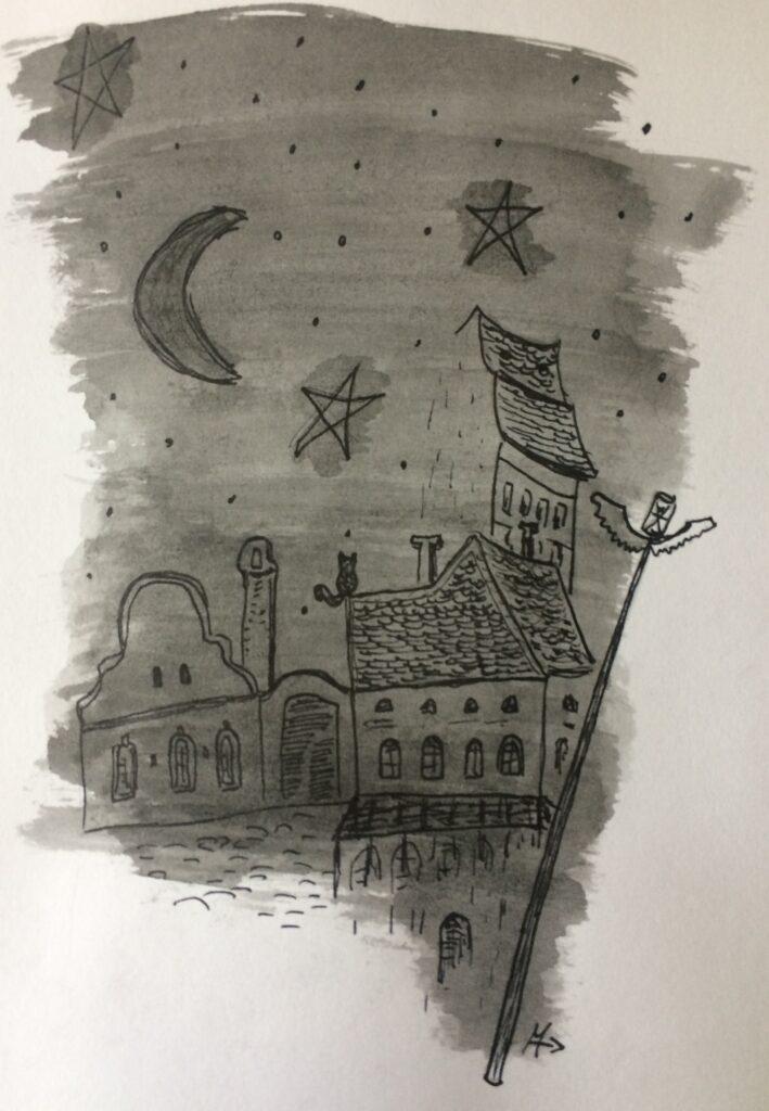 Debrecen a XVIII. században. Illusztráció: Horog Máté